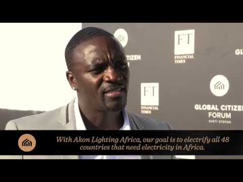 Akon Interview at Global Citizen Forum 2017 - Full length edit