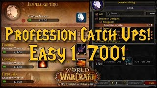 [Warlords] Profession Catch Ups! Easy 1-700!