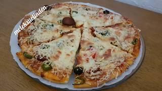 Ev Yapımı Pizza Tarifi  (sucuklu sosisli ve peynirli)