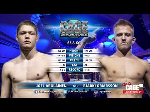 CAGE48 Joel Arolainen vs Bjarki Omarsson Fight Highlight