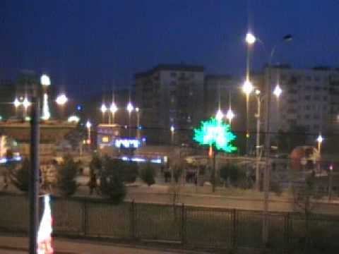 Attraction in Gldani (Tbilisi). The night version