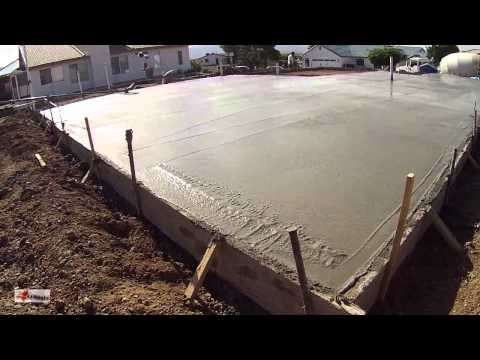 Concrete / Cement Workers laying House Foundation, Arizona