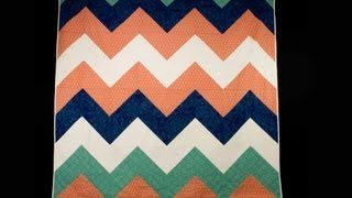 How To Sew A Chevron Stripe Quilt Top