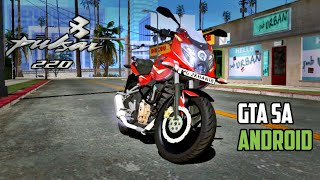 Pulsar 220-F 2018 | GTA SA ANDROID | Test Drive & Trailer ( Dyno Red Edition)