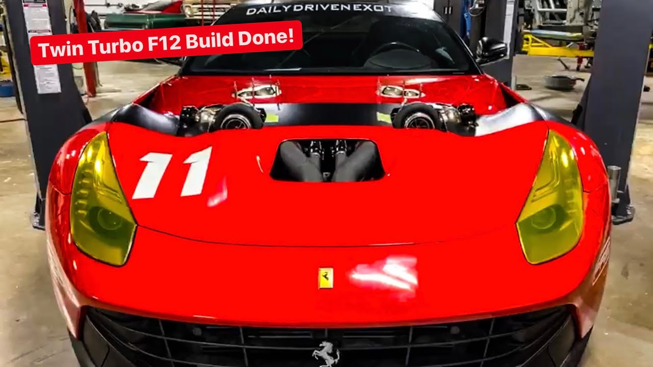 UPDATE: TWIN TURBO FERRARI F12 BUILD COMPLETE... NOW FOR TUNING!