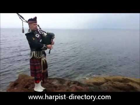 Funeral Bagpiper, Scotland