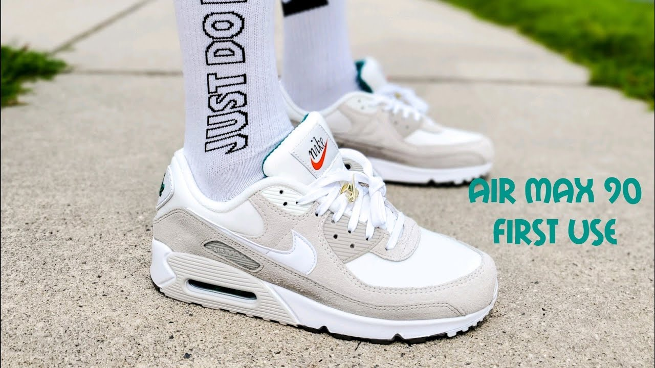 Air Max 90 First Use / Cream Unboxing & On Feet