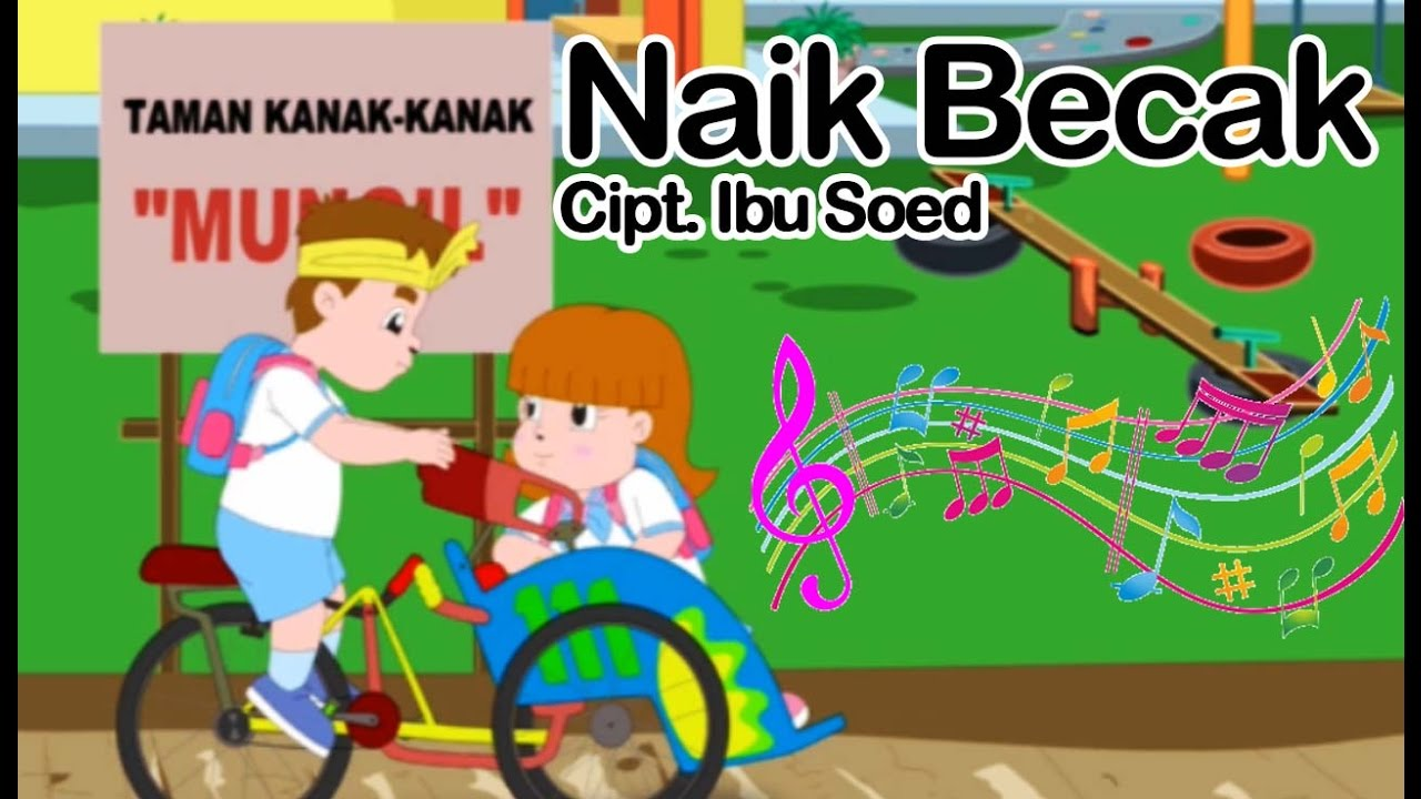 Naik Becak Lagu Anak Indonesia YouTube