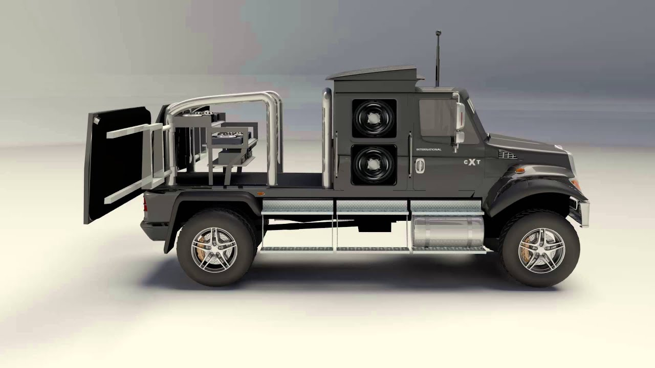 3D Customization of International CXT Truck - YouTube