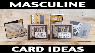 Stamping Jill - Masculine Card Ideas