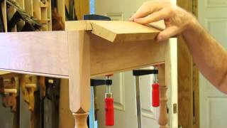 Drop Leaf Cherry Table Rule Joint & Top Miter Step 4