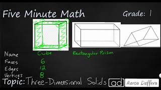 1st Grade Math Three-Dimensional Solids