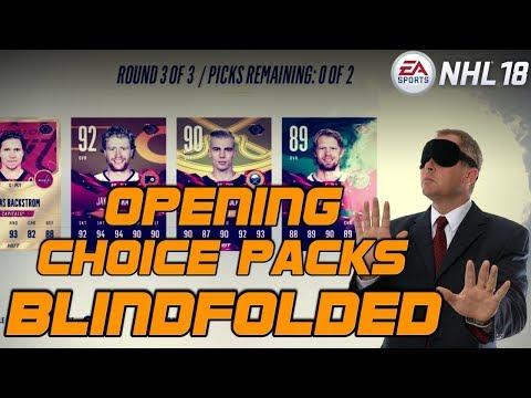 BLINDFOLDED Choice Packs - NHL 18