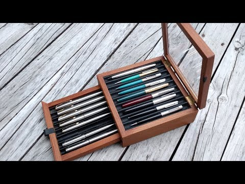 DIY Fountain Pen Display From Old Floorboard