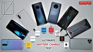 ULTIMATE Smartphone Charging Speed Test - WORLDS FASTEST CHARGING