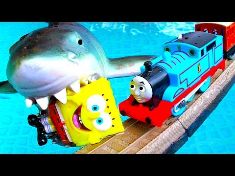 Thomas The Tank BoCo Spencer Jaws Shark Attack Pool Tracks Fun