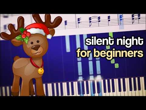 Silent Night - Peaceful Piano Version - EASY Tutorial + Free Sheets