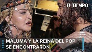 Vea a Madonna encantada al encontrarse con Maluma | EL TIEMPO
