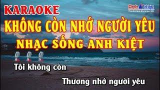 Karaoke | Không Còn Nhớ Người Yêu | Tone Nam |