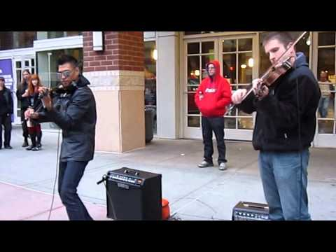 Amazing Violin Street Musician Bryson Andres performance with friend