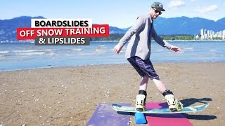 Boardslide & Lipslide Snowboard Training
