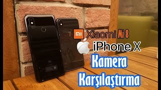 Xiaomi Mi 8  ve iPhone X kamera karşılaştırma! Türkiye'de bir ilk daha!!! iPhone 検索動画 25