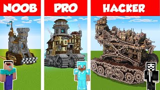 Minecraft NOOB vs PRO vs HACKER: HOUSE ON WHEELS BUILD CHALLENGE in Minecraft / Animation