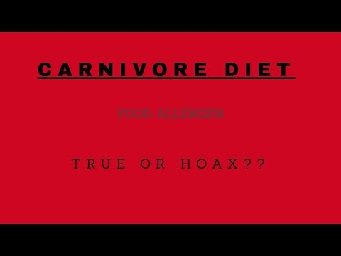 CARNIVORE DIET! ALLERGENS AND AUTOIMMUNE TRIGGERS