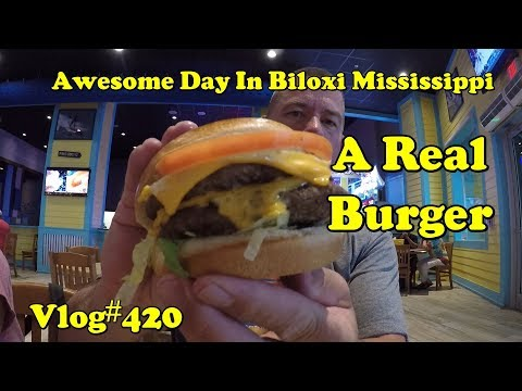 Vlog#420 Awesome Day In Biloxi Mississippi. Family And Food
