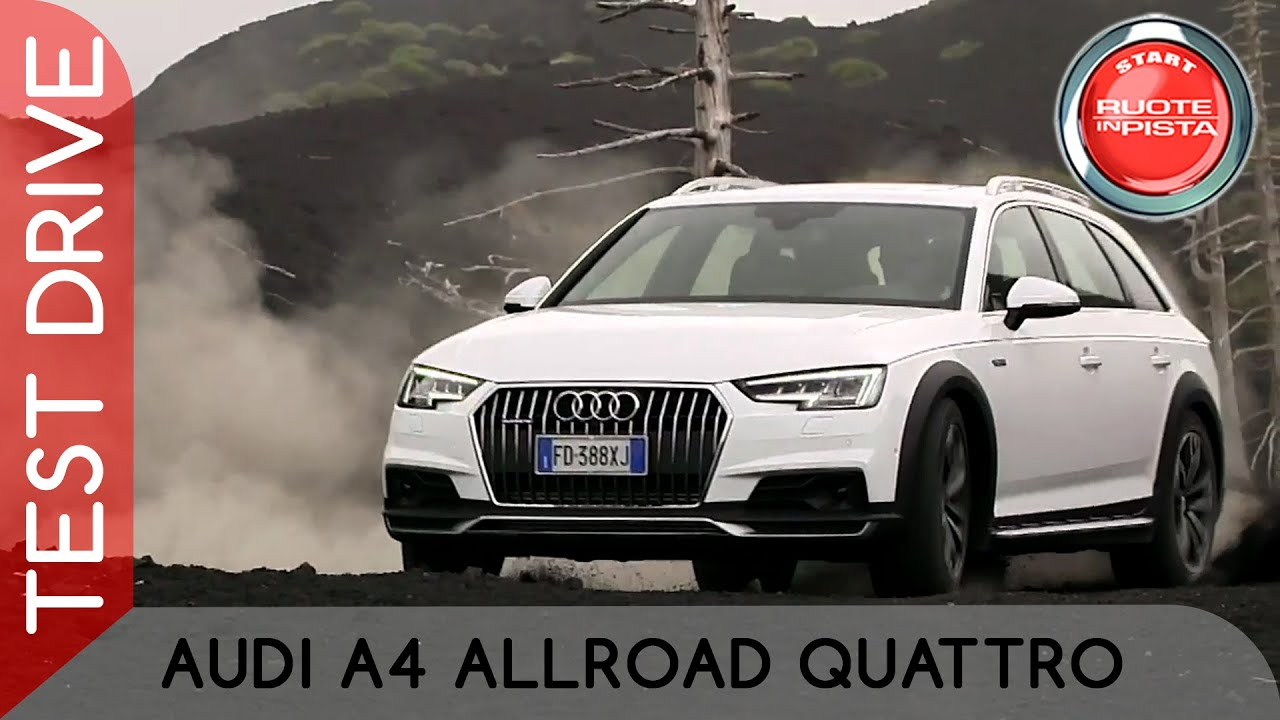 audi a4 allroad quattro test drive alfonso rizzo prova. Black Bedroom Furniture Sets. Home Design Ideas