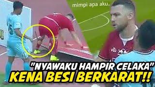 """""""HAMPIR TERTUSUK BESI""""😭 Lihat Insiden Laga Persija Jakarta vs Persela yang Hampir Cederai Simic•"""