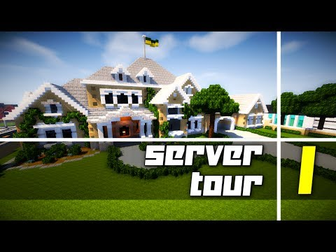 First Tour of My Twitch Subscriber Server! Awesome Houses!