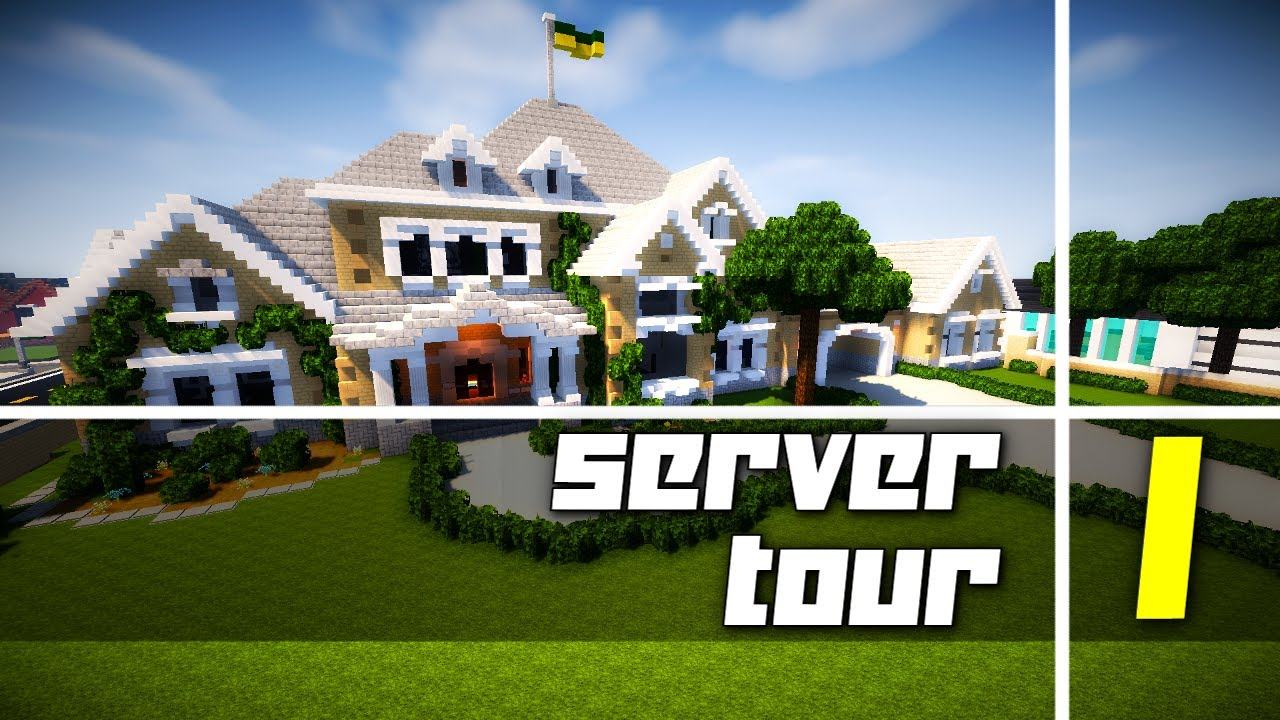 First Tour of My Twitch Subscriber Server! Awesome Houses! - YouTube