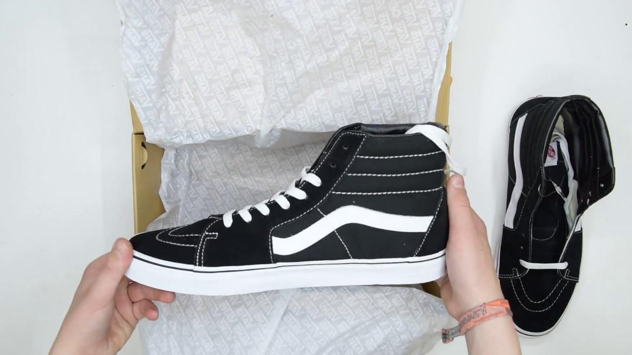 af8cb8399d Vans SK8-Hi - Black White - Unboxing