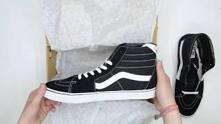Vans SK8-Hi - Black White - Unboxing | Walktall