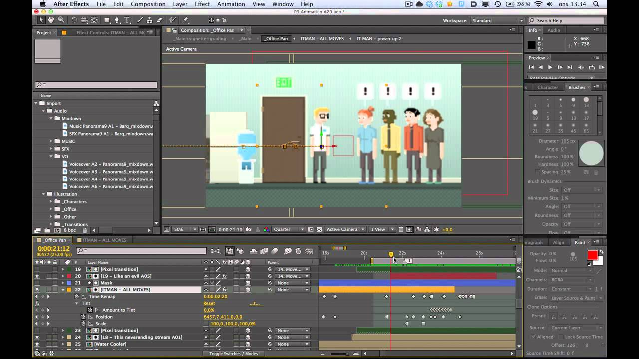Replacement Animation In After Effects Using Time Remap - YouTube