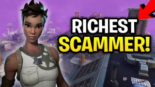 Insanely Rich Scammer Scams Himself! (Scammer Get Scammed) Fortnite Save The World