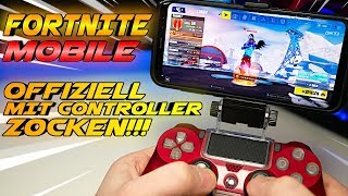 Finally CONTROLLER support for FORTNITE MOBILE!!! Patch V.7.30