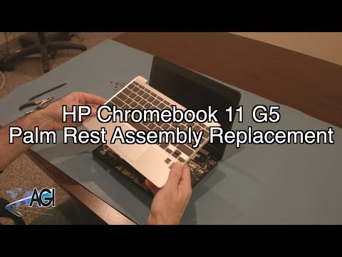 HP Chromebook 11 G5 Palm Rest Assembly Replacement - YouTube
