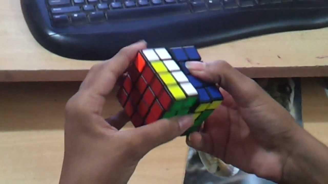 4x4 PLL parity (Diagonal swap) Fingertrick!