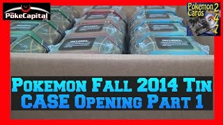 Pokemon Fall 2014 12 Tin Case Opening Part 1