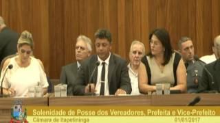 Sessão Solene - Posse dos Vereadores, Prefeita e Vice-Prefeito 2017