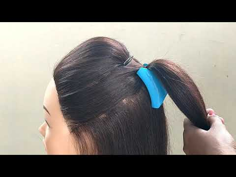 Easy Mini Bun Hairstyles For Long Hair || Half Up Hairstyle For Wedding And Function thumbnail