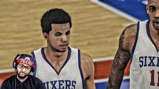 NBA 2K15 Philadelphia 76ers Challenge - YouTuber Challenge! Online Rank Match