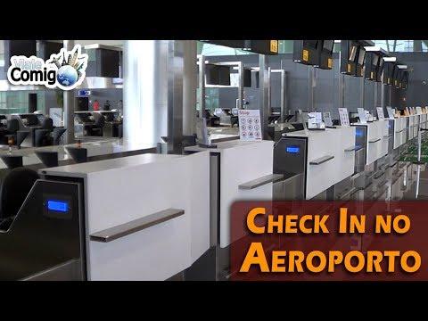 CHECK IN NO AEROPORTO   VIAJE COMIGO