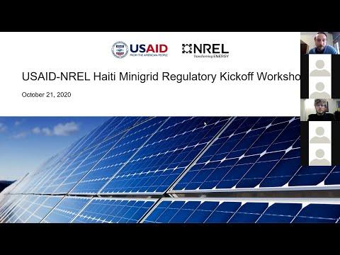 Haiti Energy Access Partnership – Minigrid Regulation Workshop