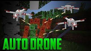 AUTO-KILL DRONES - Minecraft PE 1.6.0 Command Blocks Tutorial