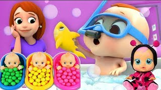 shower time for baby Care for children . Let's play and have fun ❤️💛💜💟😀💎