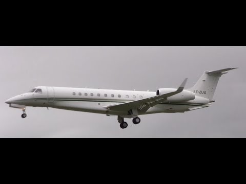 Kanye West , Kim Kardashian ERJ-135 Private Jet Arriving At Cork Airport