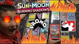 Burning Shadows Prerelease Kit! Sun and Moon PROMO Collection Binder! Want To See Our Pokemon Cards?